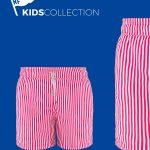 Pantaloneta Caspio Para Niños rayas en poliester RedFlag en Atizz