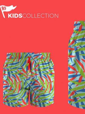 Pantaloneta Samara para Niño en Poliester Redflag en Atizz